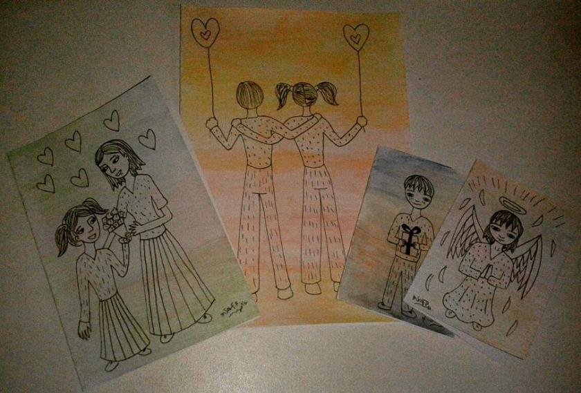 tarjetas artesanales con tus dibujos
